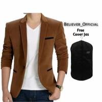 Jas Blazer Pria-Blazer Pria-Jas blazer Pria Premium Brown Stone - Cokelat, M