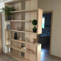 partisi penyekat ruangan kayu jati minimalis