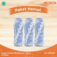 Yogurt Greendfields Drink Blueberry 250 ml x 3pcs