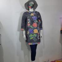 baju blouse panjang batik wanita encim modern - S