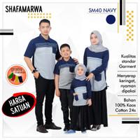 Sarimbit Shafamarwa 40 - Navy   Kaos Couple   Baju Keluarga