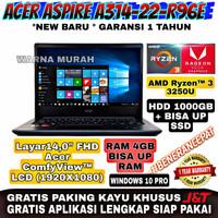 Acer Aspire A314-22-R96E AMD Ryzen 3 3250U RAM 4GB HDD 1TB LAYAR 14FHD
