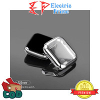 Case Apple Watch Series 1 2 3 4 5 / 38 40 42 44mm Casing Silikon Cover - Silver, 42 MM