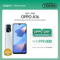 OPPO A16 Smartphone 3GB/32GB (Garansi Resmi) - Hitam
