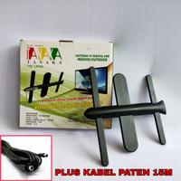 ANTEN TV DIGITAL/UHF TANAKA MODEL CAPUNG HIGH GAIN (INDOOR/OUTDOOR)