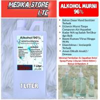 ALKOHOL Murni, 96%, antiseptik, anti infeksi & Ampuh Bunuh Virus/Kuman