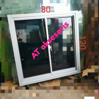 jendela sliding 80x120 aluminium harga grosir