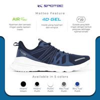 SPOTEC Sepatu Running Midtown Biru Tua - Putih - 39
