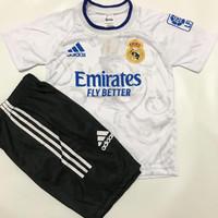 Bisa COD/Stelan baju bola anak-anak Madrid HOME/AWAY/Jersey terbaru - Madrid putih, 4