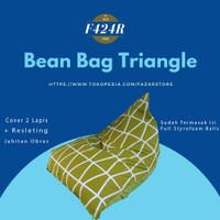 Bean bag Triangle Termasuk Isi - Bean Bag Size S M L XL - Prismatic