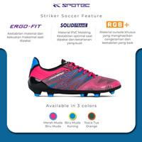 SPOTEC Sepatu Soccer Striker Soccer Merah Muda - Biru Muda