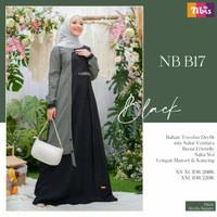 baju gamis wanita muslim nb b17 dress muslimah terbaru ori nibras