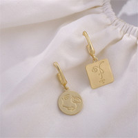 Face Earrings, Anting Wajah, Engraved Earrings, Anting Fashion Korea