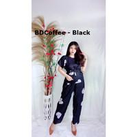 BABYDOLL Piyama Setelan Setcel Daster Bali Rayon Baju Tidur Wanita