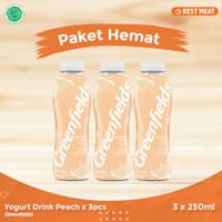 Yogurt Greendfields Drink Peach 250 ml x 3pcs