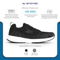 SPOTEC Sepatu Running Blaze Hitam - Putih