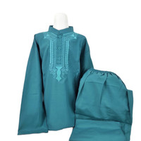 Baju Set KOKO ANAK Laki 14 15 16 tahun Setelan Pakistan Hijau Toska