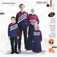 Baju Hoodie Couple Keluarga Kaos Sarimbit Family Set Shafamarwa 54Navy