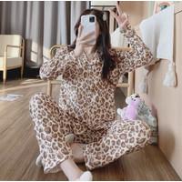 Piyama Baju Tidur Wanita Import PP Fashion Lengan Celana Panjang 7512 - L/XL