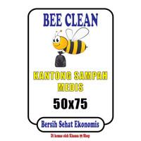 Kantong Sampah Medis Bee Clean uk 50 x 75 HD Kuning Grade Premium