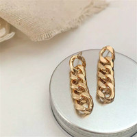 Golden Earrings, Chain Earrings, Korean Fashion, Anting Gantung
