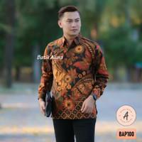 Batik Pria Lengan Panjang Premium Baju Kemeja Batik Aluna Solo BAP100