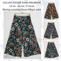 Celana Wanita Kulot Motif Bunga