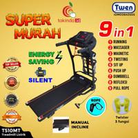 Treadmill Listrik MultiFungsi Twen T500MT Black
