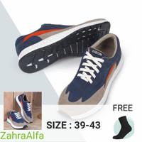 Sepatu Casual Sneakers Pria Premium Kuzatura 244