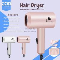 Hair Dryer Mini Portable Low Watt Alat Pengering Rambut