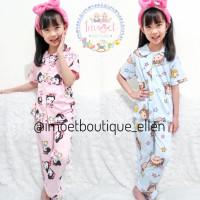 Piyama baju tidur anak kancing Chiby Maruko Chan Snow White (PI0227) - chiby maruko, 110(4-5th)