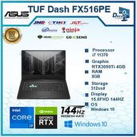 ASUS TUF Dash FX516PE i7 11370 8GB 512ssd RTX3050Ti 4GB 15.6FHD 144HZ