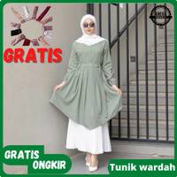 Baju Pakaian Atasan Tunik Wanita Murah Terbaru Muslim Perempuan Cewek - WARDAH