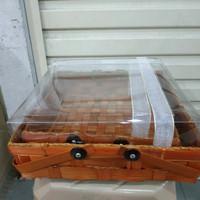 kotak bambu keranjang - kotak kue seserahan uk. 30x30 POLOS