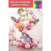 Paket Balon Ulang Tahun Unicorn Princess BONUS POMPA Dekorasi Pesta - UNICORN