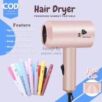 Paket Hemat Hair Dryer Pengering Rambut Catokan Mini 3 In 1 Curly