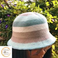 bucket hat crochet rajut handmade