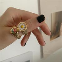 Chunky Ring, Statement Ring, Daisy Ring, Cincin Hati, Cincin Bunga