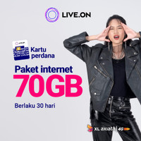 Kartu Perdana Live.On XL 70GB (30 hari)