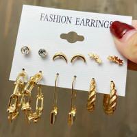 Earrings Set, Anting Set, Golden Earrings, Statement Earrings, Korean