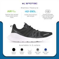 SPOTEC Sepatu Running Midtown Hitam - Putih