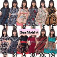 fashion anak perempuan dress batik anak baju batik anakperempuan2-10th