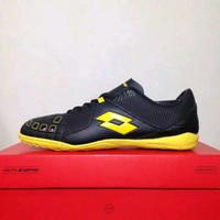 New Sepatu Futsal Lotto Squadra IN Black Sunshine L01040010 Original B