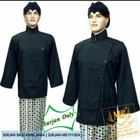 baju surjan alusan hitam polos