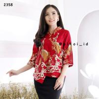 Blouse kimono batik / baju batik modern / atasan batik wanita / kantor