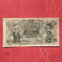 Uang Kuno Indonesia Ned Nederlandsce Indie 10 Gulden Wayang 1938