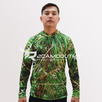 Baju Camo Berburu Pakaian Kamuflase motif BUSHES 1