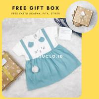 Kado Bayi Perempuan Baru Lahir 0-12 bulan Baju Dress Kaos Katun Import - Tosca, 130