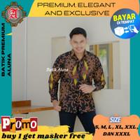 Baju Batik Pria Premium Lengan Panjang Modern Pesta Kantoran 64 - S