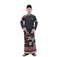 baju koko anak palestin - hitam 1, 10-11 tahun